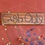 cash only sign
